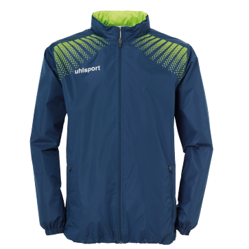 Rain jacket Goal - Petrol/flash Green - Kids - 128