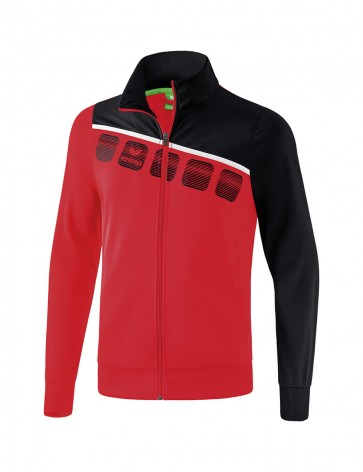 5-C Polyester Jacket - Kids - red/black/white