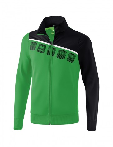 5-C Polyester Jacket - Kids - emerald/black/white