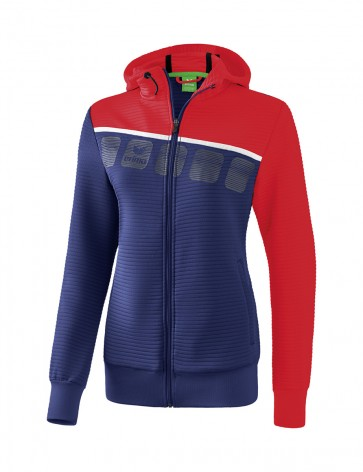 5-C Training Jacket with hood - Women - new navy/red/white