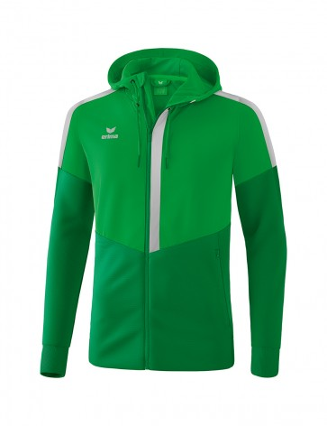 Squad Training Jacket with hood - Kids - fern green/emerald/silver grey