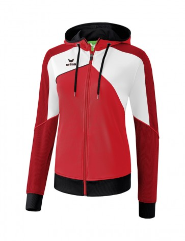 Premium One 2.0 Training Jacket with hood - Women - red/white/black