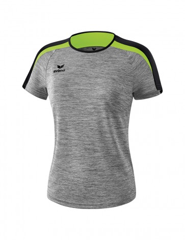 Liga 2.0 T-shirt - Women - grey marl/black/green gecko