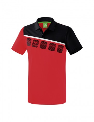 5-C Polo-shirt - Men - red/black/white