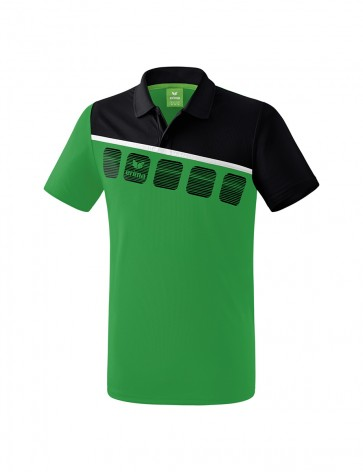 5-C Polo-shirt - Men - emerald/black/white