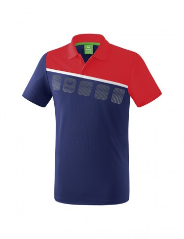 5-C Polo-shirt - Men - new navy/red/white
