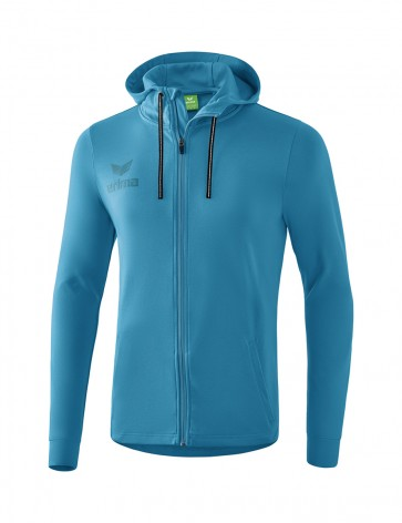 Essential Hooded Sweat Jacket - Men - oriental blue/colonial blue