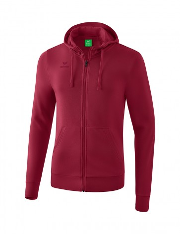 Hooded Sweat Jacket - Men - bordeaux