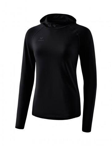 Longsleeve with hood - Women - black