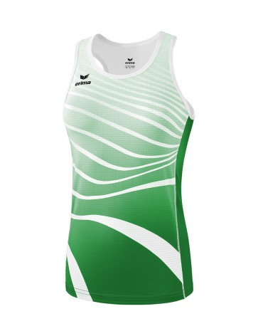 Singlet - Women - emerald/white