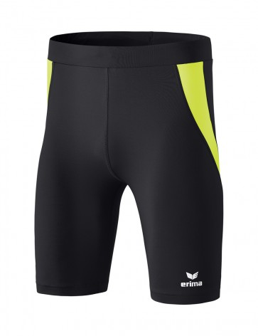 Tights short - Men - black/fluo yellow