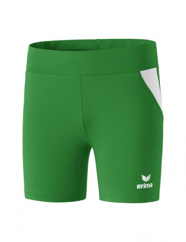 Tights short - Women - emerald/white