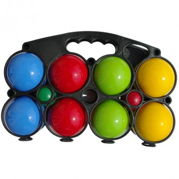 Set of 8 wooden painted balls