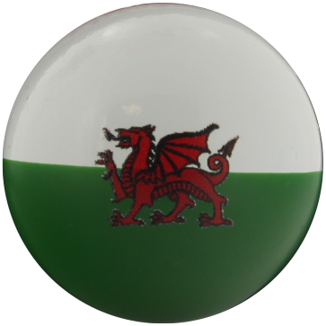 Lacquered boxwood jack with the colors of Wales