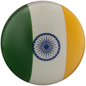 Lacquered boxwood  jack with the colors of India