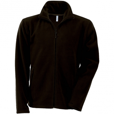 Men's Zip fleece Jacket Kariban K911-Chocolate
