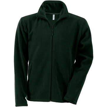 Men's Zip fleece Jacket Kariban K911-Forest-Green