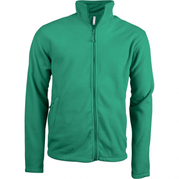 Men's Zip fleece Jacket Kariban K911-Green