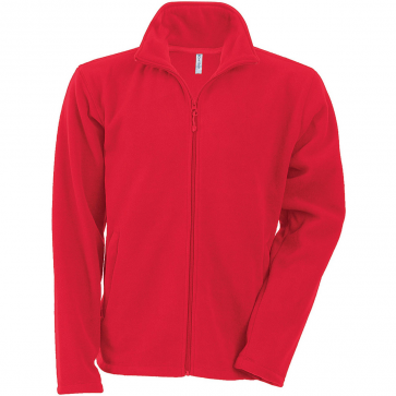 Men's Zip fleece Jacket Kariban K911-Red