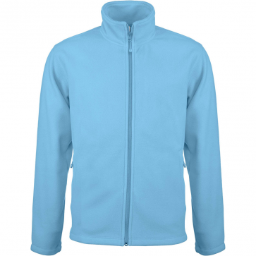 Men's Zip fleece Jacket Kariban K911-Sky-Blue