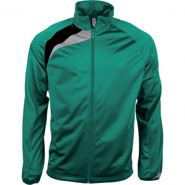 Tracksuit top - men - dark green/black/storm grey