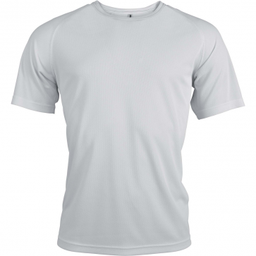 Short-sleeved sports t-shirt - men - white
