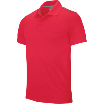 Short-sleeved polo shirt - men - sporty red