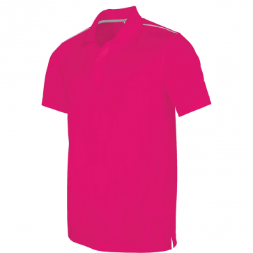 Short-sleeved polo shirt - men - fuchsia