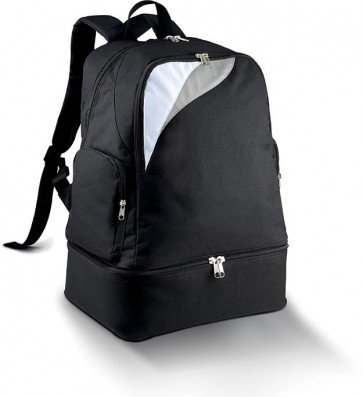 Back pack black with a bottom pouch