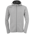 Jacket with hood Essential - Dark Grey Mélange - Men - S