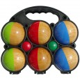 Set of 6 wooden balls half painted