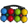 Set of 8 wooden balls painted