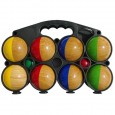 Set of 8 wooden balls half painted