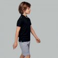 Short-sleeved polo shirt - kids - black