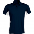 Flag > short-sleeved two-tone polo shirt - men - navy/white