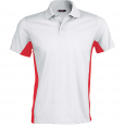 Flag > short-sleeved two-tone polo shirt - men - white/red