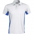 Flag > short-sleeved two-tone polo shirt - men - white/royal blue