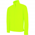 Men's Zip fleece Jacket Kariban K911-Yellow-Fluo