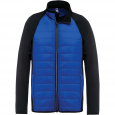 Dual-fabric sports jacket - men - dark royal blue/black