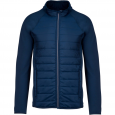 Dual-fabric sports jacket - men - sporty navy/sporty navy
