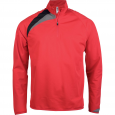 Zip neck training top - men - sporty red/black/storm grey