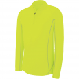 Zip neck running sweatshirt - men - fluorescent yellow