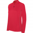 Zip neck running sweatshirt - ladies - sporty red