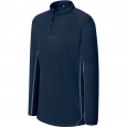 Zip neck running sweatshirt - kids - sporty navy