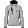 Heather hooded jacket - men - light grey mélange