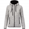 Heather hooded jacket - ladies - light grey mélange