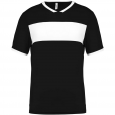 Short-sleeved jersey - men - black/white