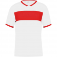 Short-sleeved jersey - kids - white/sporty red