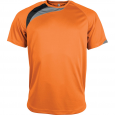 Short-sleeved sports t-shirt - men - orange/black/storm grey