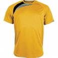 Short-sleeved sports t-shirt - men - sporty yellow/black/storm grey